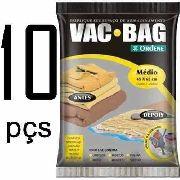 10 Saco A Vácuo Médio Organizador Roupa Vac Bag 45x65 Ordene