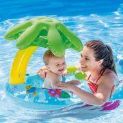 Baby Bote Inflável Peixinhos Cobertura Mamãe Bebê  Intex 56590