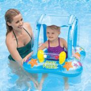Baby Bote Kiddie Com Cobertura Boia Inflável Azul Intex