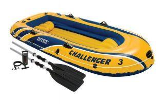 Barco Bote Inflável Intex Challenger 3 Pessoas Remos Bomba