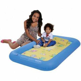 Berço e Piscininha Inflável C/ Colchão e Travesseiro -  Bebê