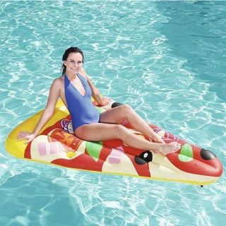 Boia Colchão Bronzeador Inflável Pizza 1,88m x 1,30m Bestway 44038