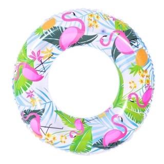 Bóia Inflável Redonda para Piscina 90 cm Flamingo Jilong