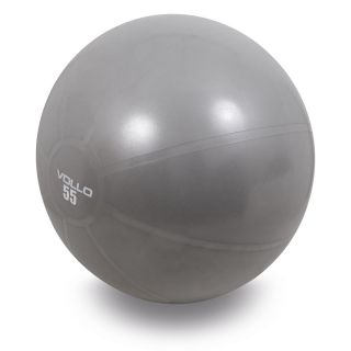 Bola Pilates Gym Ball Com Bomba 55 Cm Cinza Vollo
