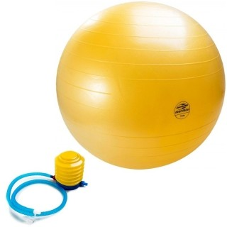 Bola Suiça 75 cm Ball Anti-Burst Fit Amarelo - Mormai