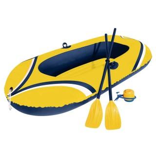 Bote Inflável Amarelo Com Remos E Inflador Até 95 kg Mor