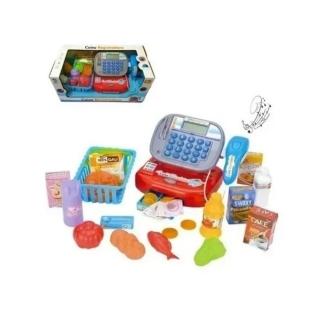 Brinquedo Caixa Registradora Mercadinho Vermelho - Fênix