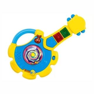 Brinquedo Instrumento Musical Guitarrinha Infantil com Luzes e Som