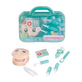 Brinquedo Kit Dentista Maleta com Acessorios Azul Fenix