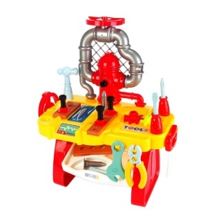 Brinquedo Mesa de Ferramenta 34 Peças Infantil