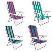 Cadeira Reclinavel 4 Posições Aluminio Mor