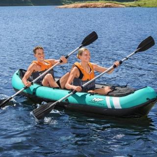 Caiaque Inflável Hydro Force X2 Ventura Verde Par Remos Canoa Bestway
