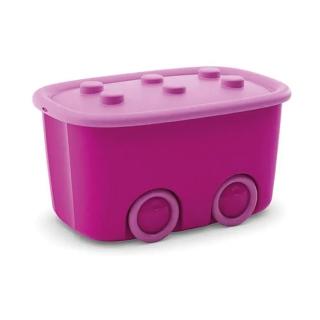 Caixa organizadora 46 Litros Funny Box Curver Rosa Pink Keter