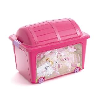 Caixa organizadora 50 Litros Princesa Curver Rosa Pink Keter