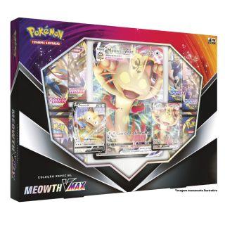 Coleção Especial Pokemon Box Meowth V Max 51 Cartas