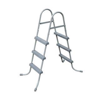 Escada Dupla 107 Cm Bestway Piscina Inflável E Estrutural