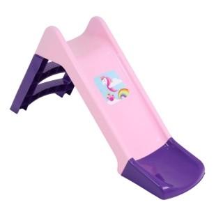 Escorregador Infantil Colorido Unicornio Com Apoio Bel