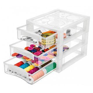 Gaveteiro Plástico Transparente 3 Gavetas Ordene