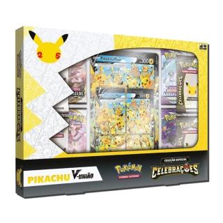 Jogo Cartas Pokemon Box Pikachu V União 46 Cartas Copag