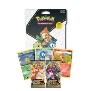 Jogo de Cartas Pokemon Blister Gigante Parceiros Iniciais 15 Cartas Sinnoh