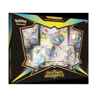 Jogo de Cartas Pokemon Box Dragapult Brilhante Vmax 51 Cartas