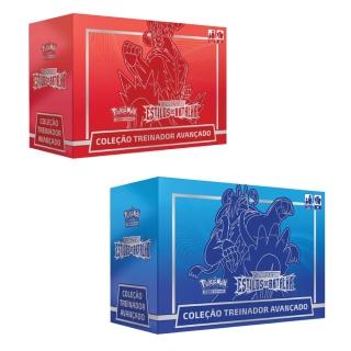 Jogo de Cartas Pokemon Box Treinador Avançado 90 Cartas