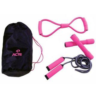 Kit Beauty Treino Leve Ginastica Musculação - Acte Sports