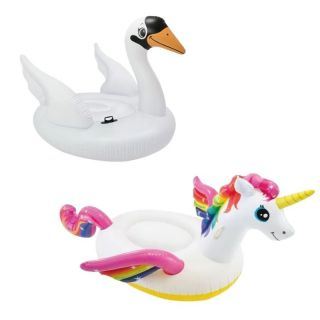 Kit Bóia Inflável Fashion Unicornio + Cisne Intex