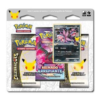 Kit Cartas Pokemon Blister Triplo 25 anos 15 Cartas