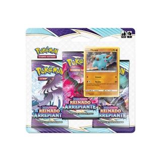 Kit Cartas Pokémon Blister Triplo 3 Pacotes + 1 Carta Phanpy
