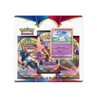 Kit Cartas Pokémon Blister Triplo 3 Pacotes + 1 Carta Ponyta