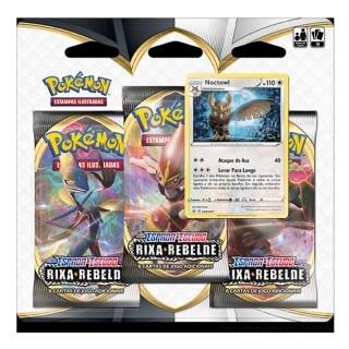 Kit Cartas Pokémon EE2 Blister Triplo 3 pacotes + 1 Noctowl - Rixa Rebelde