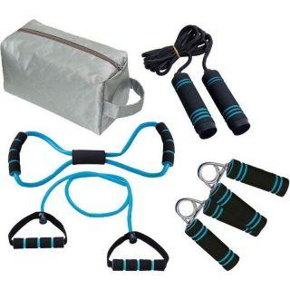 Kit Ginástica 6pç Fitness Yoga Exercícios Corda Elástico Mor