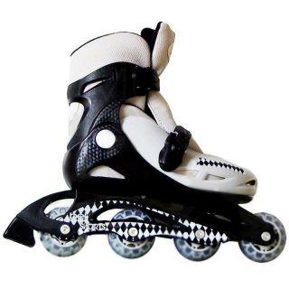 Kit Patins Roller Inline Completo + Proteção Preto
