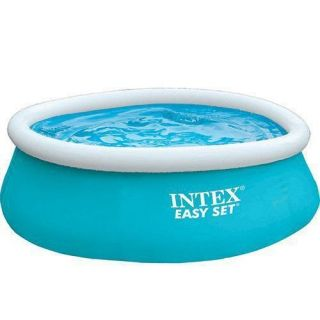 Kit Piscina 886 Litros + Bomba de ar Intex