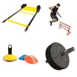 Kit Treino Cones de Agilidade + Escada 8 Metros + Obstaculos + Roda Abdominal