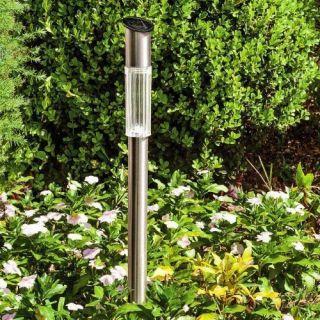 Luminária Solar Inox  fotossensível Recarregável - Ordene