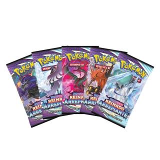 Pacote Cartas Pokémon EE2 Booster 6 Cartas - Reinado Arrepiante