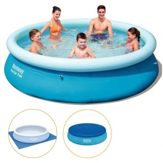 Piscina Inflável 3.700 Litros + Capa + Forro - Bestway