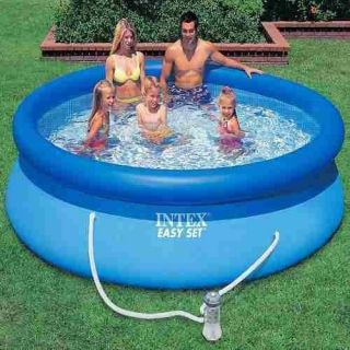 Piscina Inflável Easy Set Intex 3.853 L  + Bomba Filtrante