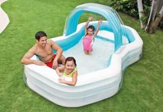 Piscina Inflável Familiar Cabana Spray 700 Litros Intex 57198