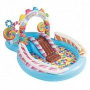 Centro de Diversão Inflável Infantil Playground Candy Zone 206 Litros Intex