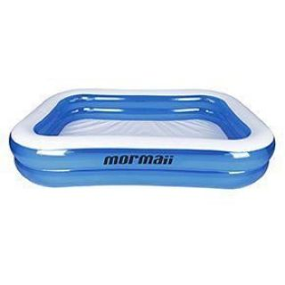 Piscina Inflável Quadrada Infantil 890 Litros Azul - Mormaii