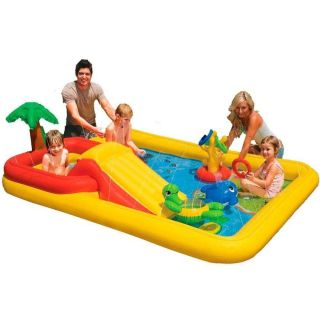 Piscina Playcenter Oceano 458l Escorregador Inflável - Intex