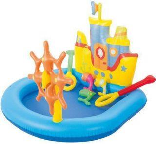 Piscina Playground Interativa Inflável Barco - Bestway