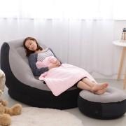 Poltrona Inflável Ultra Lounge Com Pufe Intex