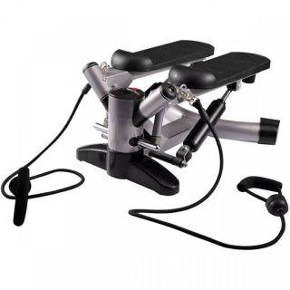 Simulador De Caminhada Ginástica Mini Stepper Lcd Com Extensores  - Live Up