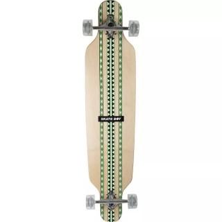 Skate Longboard Semi Profissional Branco Fenix