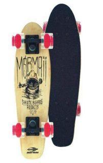 Skate Pro Mini Longboard Retrô Abec 7 Cruiser Bambu Mormaii Tubarão