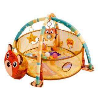 Tapete Infantil Com Atividades 3x1 Com Piscina De Bolinhas